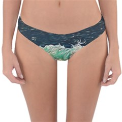 Ocean Wave Close To Shore Reversible Hipster Bikini Bottoms by bloomingvinedesign