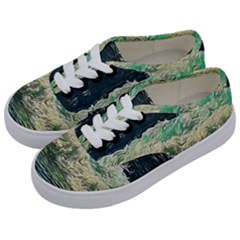 Ocean Wave Close To Shore Kids  Classic Low Top Sneakers by bloomingvinedesign