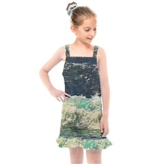 Ocean Wave Close To Shore Kids  Overall Dress