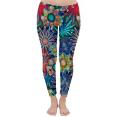 Tropical Daisies Classic Winter Leggings