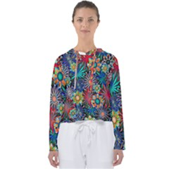 Tropical Daisies Women s Slouchy Sweat