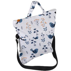 Bird Floral Fold Over Handle Tote Bag by ShoesWeDoBagsToo