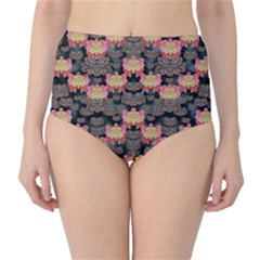 Heavy Metal Meets Power Of The Big Flower Classic High-waist Bikini Bottoms by pepitasart