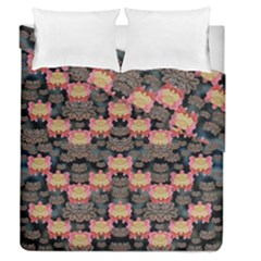 Heavy Metal Meets Power Of The Big Flower Duvet Cover Double Side (queen Size)