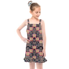 Heavy Metal Meets Power Of The Big Flower Kids  Overall Dress