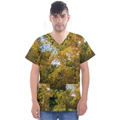 Vermont Fall Trees V-Neck Scrub Top