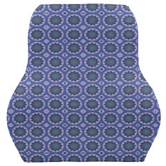 Floral Circles Blue Car Seat Back Cushion  by BrightVibesDesign
