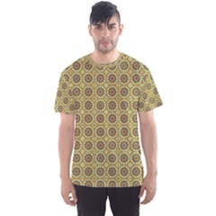 Floral Circles Yellow Men s Sports Mesh Tee by BrightVibesDesign