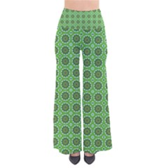 Floral Circles Green So Vintage Palazzo Pants