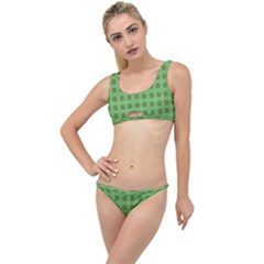 Floral Circles Green The Little Details Bikini Set by BrightVibesDesign