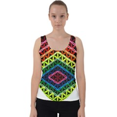 Hamsa Of God Velvet Tank Top by CruxMagic