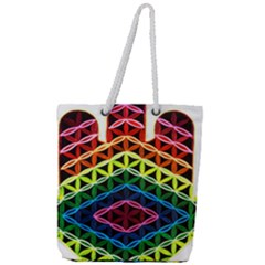 Hamsa Full Print Rope Handle Tote (large) by CruxMagic
