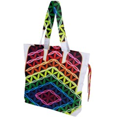 Hamsa Drawstring Tote Bag by CruxMagic