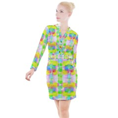 Arabian Nights Button Long Sleeve Dress