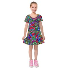 9 Kids  Short Sleeve Velvet Dress