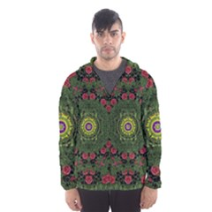 Sunshine Mandala In Rose Heaven Hooded Windbreaker (men) by pepitasart
