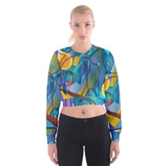 Geometry Collage Cropped Sweatshirt