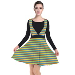 Candy Striped Plunge Pinafore Dress/skirt