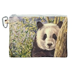 Panda Canvas Cosmetic Bag (xl)