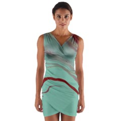 Floating Away Wrap Front Bodycon Dress