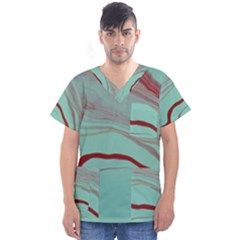 Floating Away Men s V Neck Scrub Top