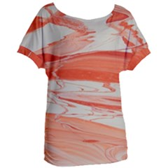Orange Swirl Women s Oversized Tee by WILLBIRDWELL