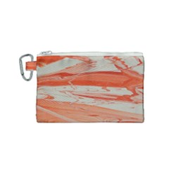 Orange Swirl Canvas Cosmetic Bag (small) by WILLBIRDWELL