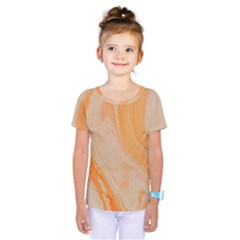 Orange Kids  One Piece Tee