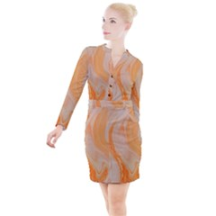 Orange Button Long Sleeve Dress by WILLBIRDWELL