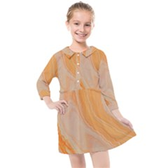 Orange Kids  Quarter Sleeve Shirt Dress