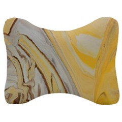 Yellow Jungle Velour Seat Head Rest Cushion by WILLBIRDWELL