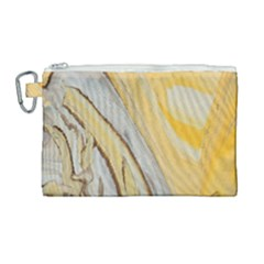 Yellow Jungle Canvas Cosmetic Bag (large)