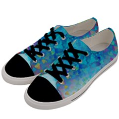 Hearts Colors Men s Low Top Canvas Sneakers by LoolyElzayat