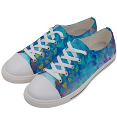 Hearts Colors Women s Low Top Canvas Sneakers by LoolyElzayat