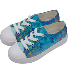 Hearts Colors Kids  Low Top Canvas Sneakers by LoolyElzayat