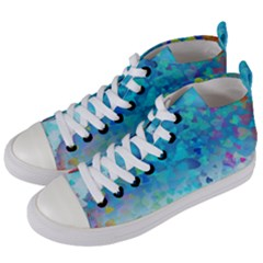 Hearts Colors Women s Mid Top Canvas Sneakers by LoolyElzayat