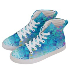 Hearts Colors Men s Hi Top Skate Sneakers by LoolyElzayat