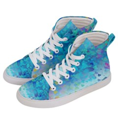 Hearts Colors Women s Hi Top Skate Sneakers by LoolyElzayat