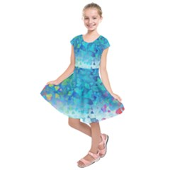 Hearts Colors Kids  Short Sleeve Dress
