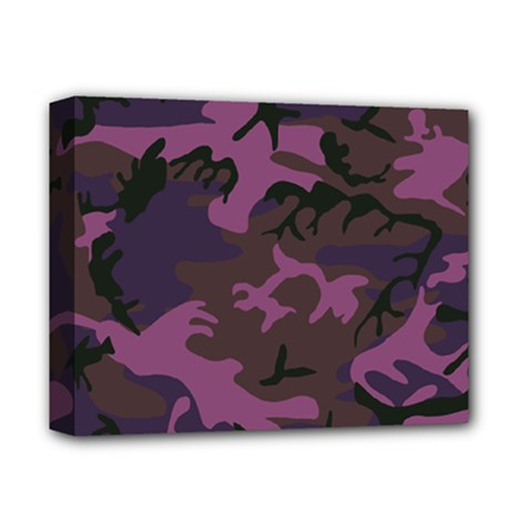 Camouflage Violet Deluxe Canvas 14  X 11  (stretched) by snowwhitegirl