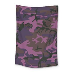 Camouflage Violet Small Tapestry by snowwhitegirl