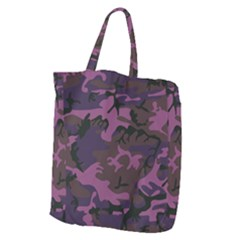 Camouflage Violet Giant Grocery Tote by snowwhitegirl