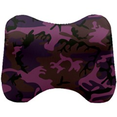 Camouflage Violet Head Support Cushion by snowwhitegirl