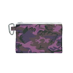 Camouflage Violet Canvas Cosmetic Bag (small) by snowwhitegirl