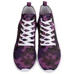 Camouflage Violet Men s Lightweight High Top Sneakers by snowwhitegirl