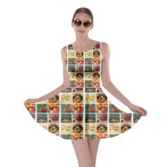Victorian Fruit Labels Skater Dress