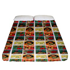 Victorian Fruit Labels Fitted Sheet (king Size)