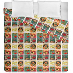 Victorian Fruit Labels Duvet Cover Double Side (king Size)