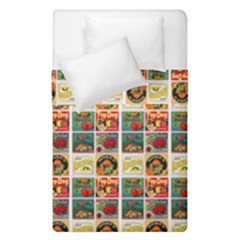 Victorian Fruit Labels Duvet Cover Double Side (single Size)