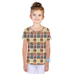 Victorian Fruit Labels Kids  One Piece Tee